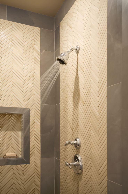 Herringbone tile detail