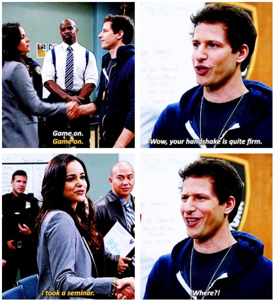 Brooklyn Nine-Nine. Santiago's character cracks me up!!!