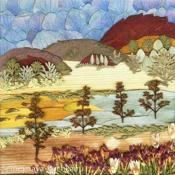 картины из природного материала