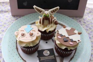 Hermosos #cupcakes decorados, con los personajes de #Avatar, #Aang, #Appa y #Momo hechos en 2D y 3D. #bogota
