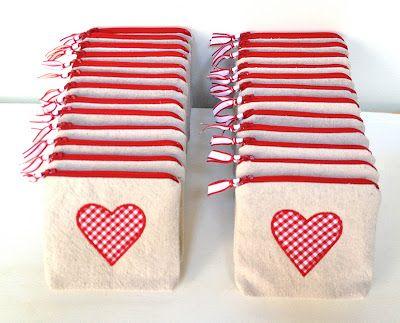 Cute Valentine's day pouch tutorial