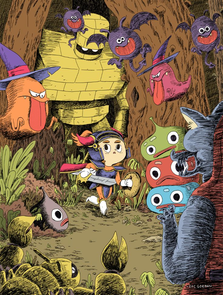 My Dragon Quest inspired piece for this Friday's gallery show at iam8bit in LA. If you're in the area, you gotta go check it out...