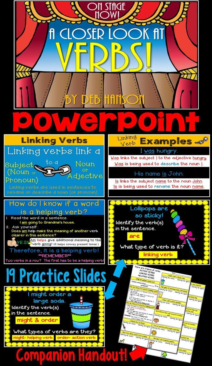 39 Slide Powerpoint Focusing On Action Verbs Linking Verbs And Helping Verbs Contains A Matching Handout Verbs Powerpoint Helping Verbs Linking Verbs [ 1269 x 736 Pixel ]