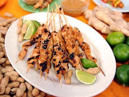 Chicken tender satay