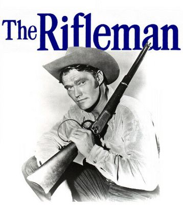 The Rifleman : Western television programme starring Chuck Connors as rancher Lucas McCain and Johnny Crawford as his son, Mark McCain. It was set in the 1870s and 1880s in the town of North Fork, New Mexico Territory. The show was filmed in black-and-white, half-hour episodes. The Rifleman aired on ABC from September 30th, 1958, to April 8, 1963. It was one of the first prime time series on American television to show a widowed parent raising a child.