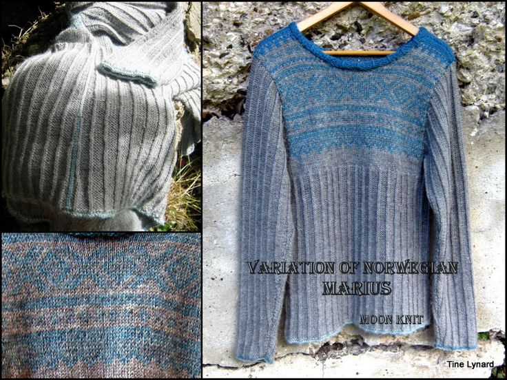 Variation of Marius , with Knit stitch through the back loop
