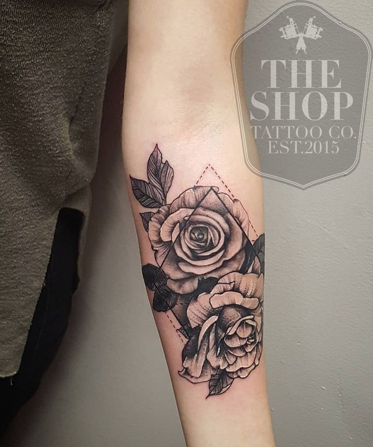 coolTop Geometric Tattoo - The Shop Tattoo Co best tattoo shop in toronto geometrical tattoo rose tattoo...
