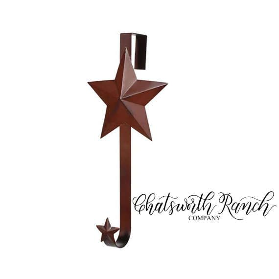Wreath Door Hanger Over the Door Wreath Hanger Metal Star