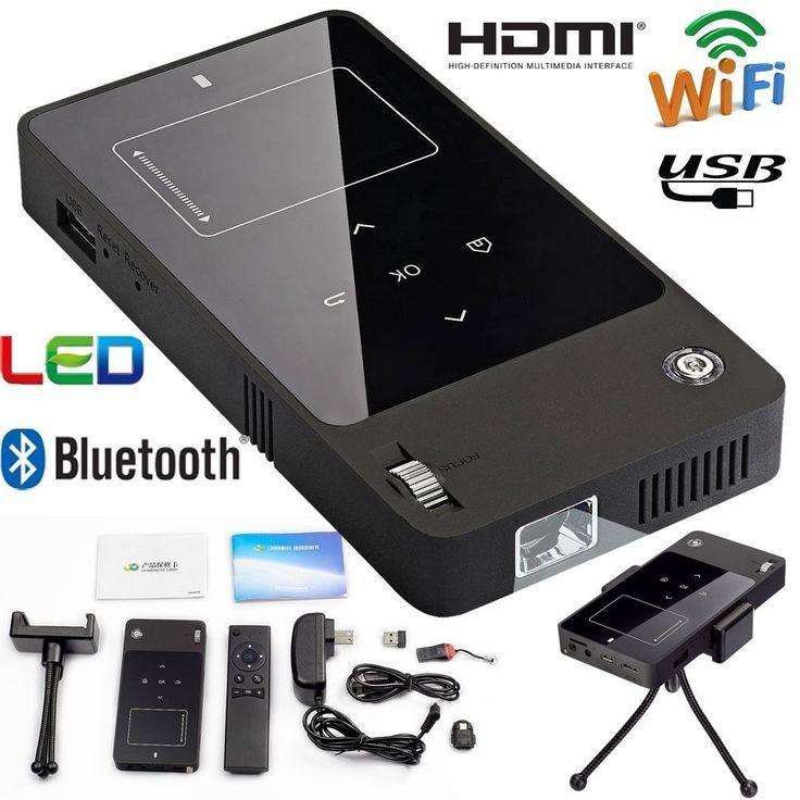 Bluetooth Wifi DLP Mini Portable projector HDMI USB Full HD 1080P  led Projector #Zenblu
