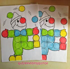 Aankleedspel: Clown Tito  De kinderen kleden clown Tito aan met allerlei gekke gekleurde neuzen, allerlei gekke gekleurde hoeden en gekleur...