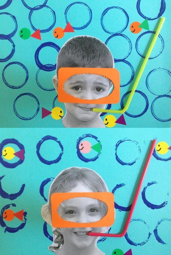 ÀLBUMS FONS DEL MAR 3r TRIMESTRE - Material: fotografia, cartolina, punxó, cola, palleta, pintura - Nivell: Infantil P4 2014/15 Escola Pia Balmes