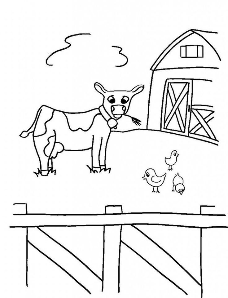 simple Free Printable Farm Animal Coloring Pages For Kids