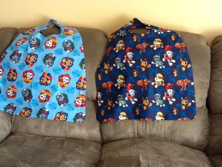 """Paw Patrol"" capes for the boys."