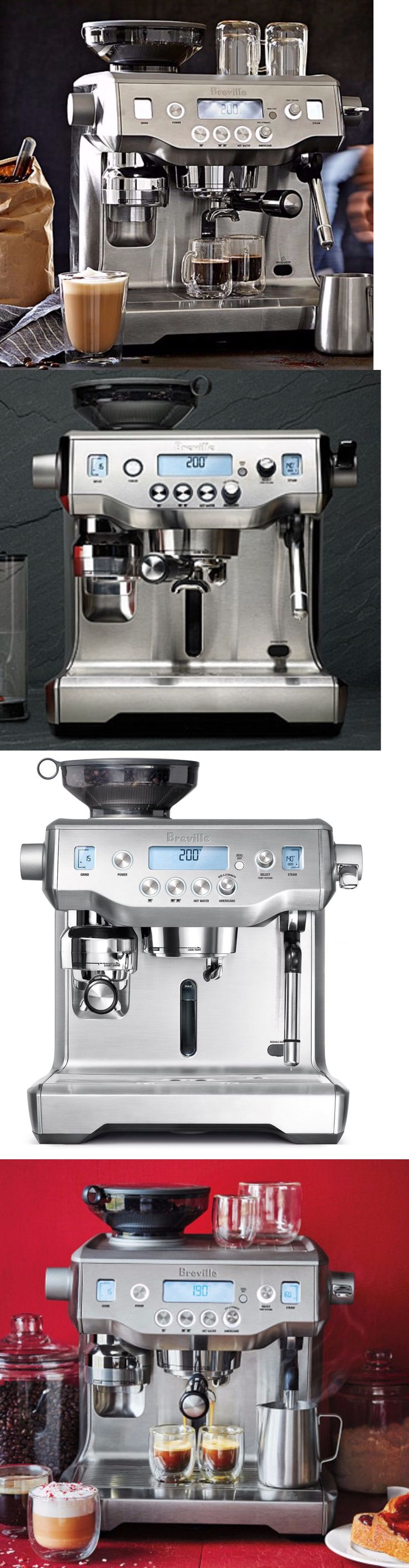 Small Kitchen Appliances: Stainless Espresso Machine Coffee Maker Grinder Dual Boiler Barista 15 Bar Pro BUY IT NOW ONLY: $2594.1