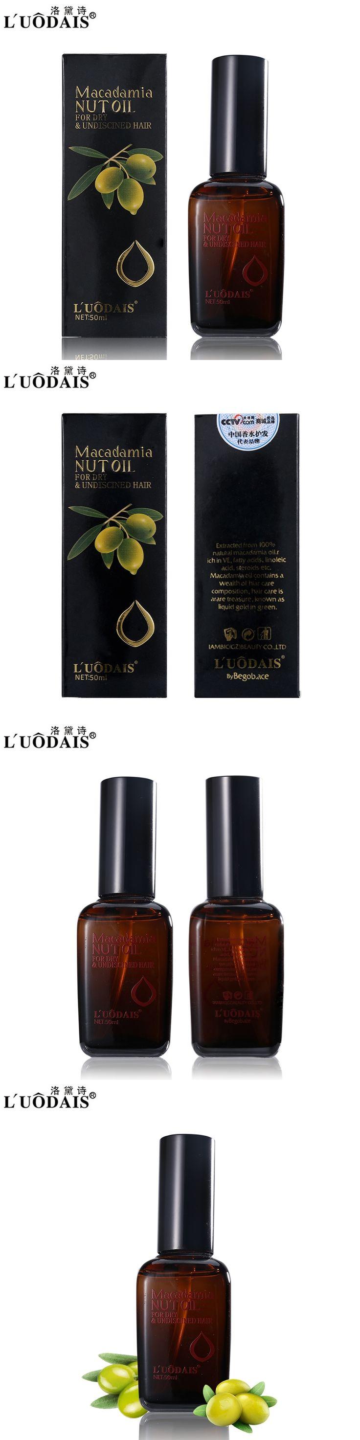 LUODAIS Brand Hair Care Hair & Scalp Treatment 100% Pure Moroccan Argan Oil Macadamia Nut Oil for Dry and Damaged Hair