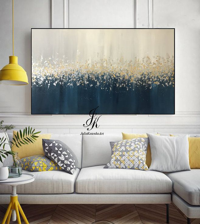 Large Abstract Oil Painting Gold Leaf Silver Leaf Art Wall Decor Modern Art Original Painting textured Abstract Painting by Julia Kotenko by JuliaKotenkoArt on Etsy