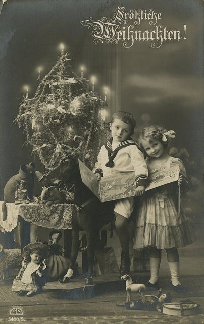 Children with Christmas Tree by The Texas Collection, Baylor University, via Flickr