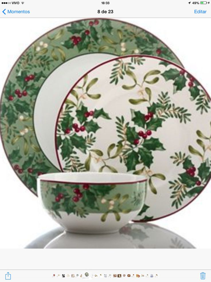 222 Fifth Christmas Foliage 12 pc set at Kohlu0027s & 385 best Christmas..China/Dishes images on Pinterest   Christmas ...