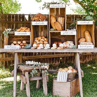 20 ideas de barras de comida para tu boda