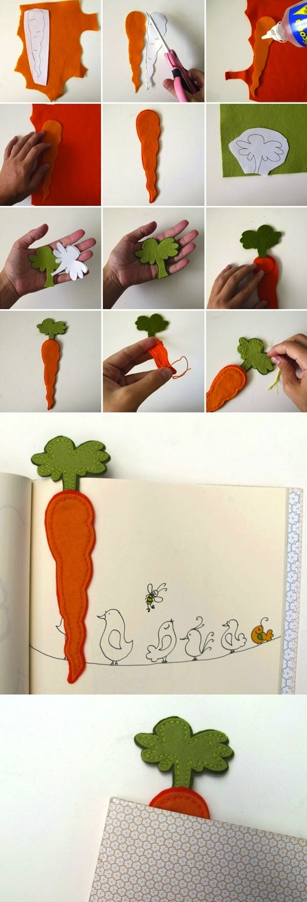 Felt food! Bookmark or for play kitchen. Fun!