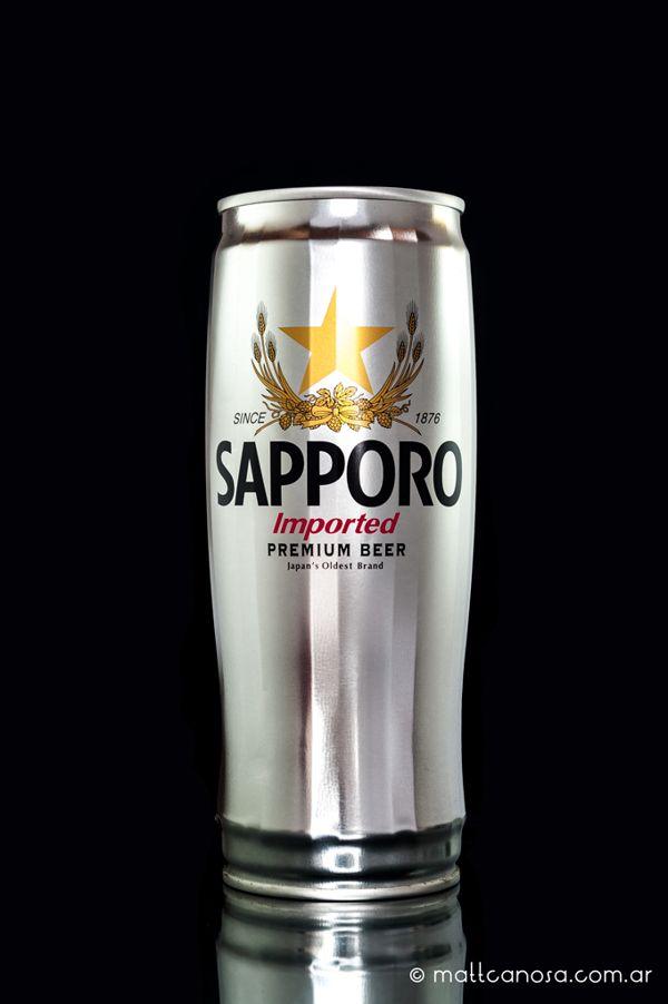 Sapporo Beer by Matt Canosa, via Behance // és una llauna? existeix o és un projecte?