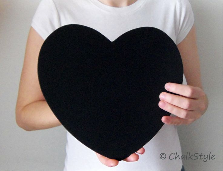 2 CHALKBOARD Large HEARTS for Rustic Wedding Decor or Photo Booth Prop, Engagement Pictures Props Save the Date Chalk Board Signs. $16.99, via Etsy.