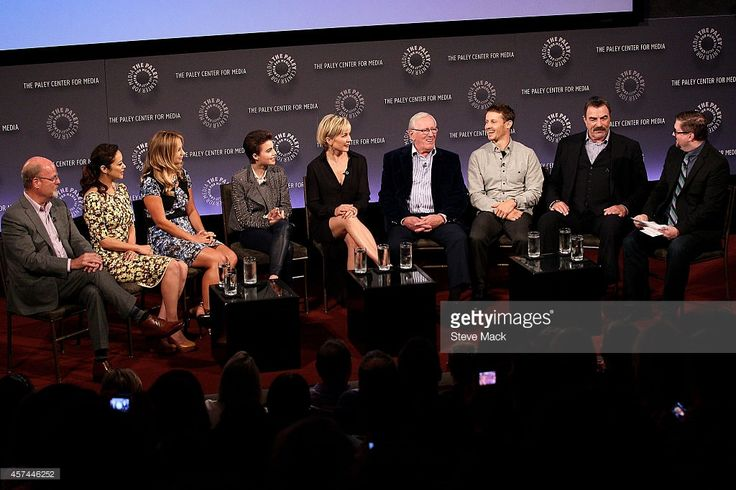 Blue Bloods Executive Producer Kevin Wade, actors Marisa Ramirez, Vanessa Ray, Sami Gayle, Amy Carlson, Len Cariou, Will Estes and Tom Selleck attend the 2nd Annual Paleyfest New York Presents: 'Blue Bloods' at Paley Center For Media on October 18, 2014 in New York, New York.