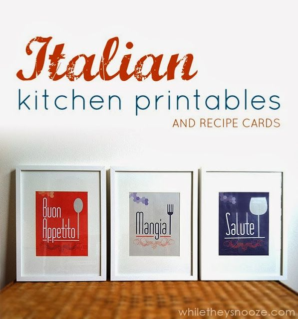 While They Snooze: Italian Themed Kitchen Printables and Recipe Cards #GourmetGetaway #WorldMarket #Italian