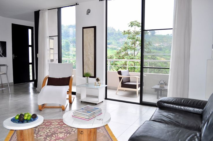 living space open to the view