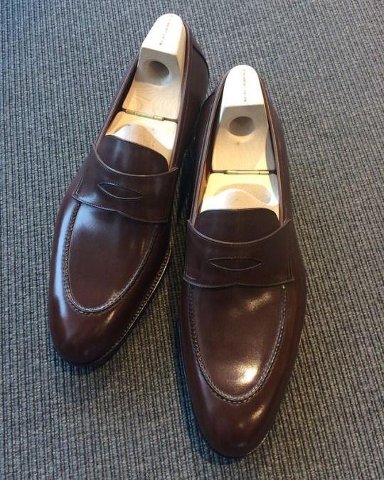 Onze klassieke penny loafer van Saint Crispin's,