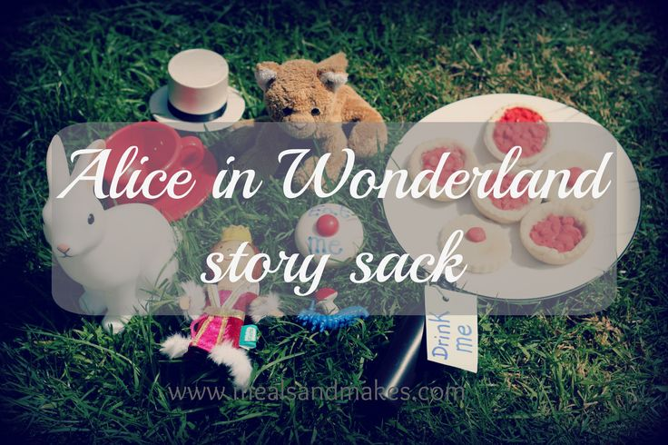 Bring the enchanting story of Alice in Wonderland off of the page with this story sack idea which is fun and easy to put together.
