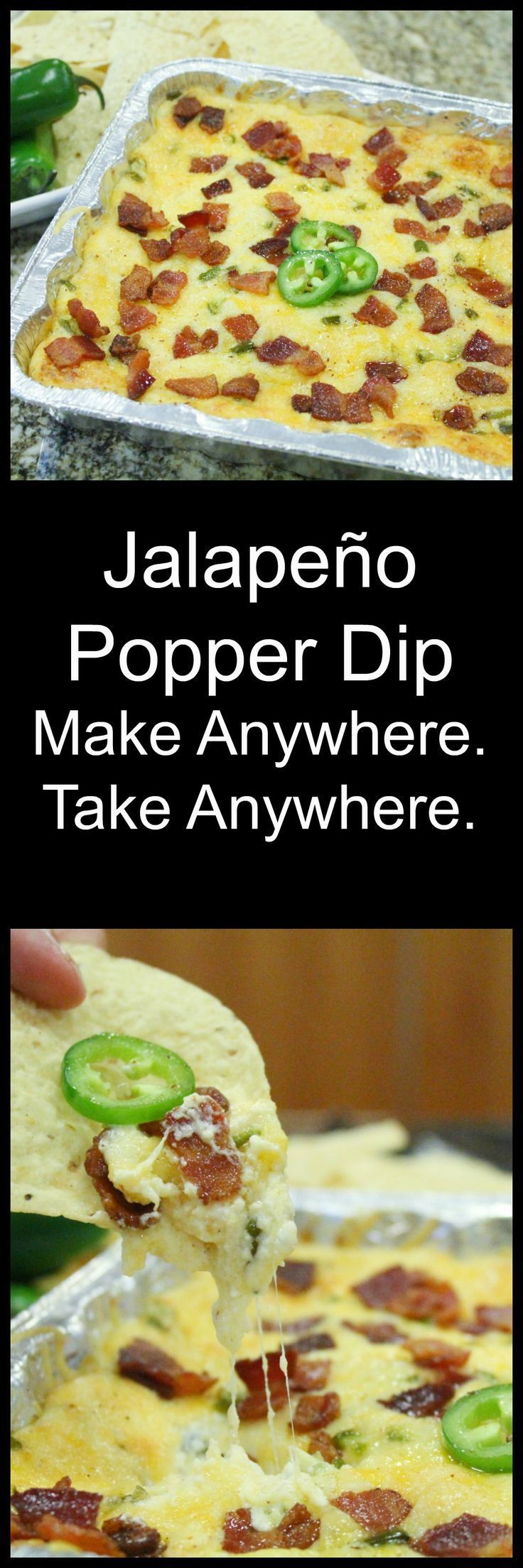When you need a super easy make anywhere take anywhere appetizer that will please everyone! This Bacon Jalapeno Popper Dip is your answer!