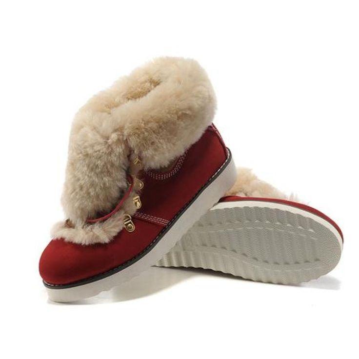 Ugg Women Fashion Fur 9148 Red