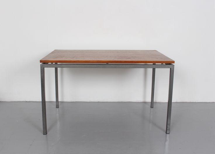 Mid Century Teak Top Dining Table