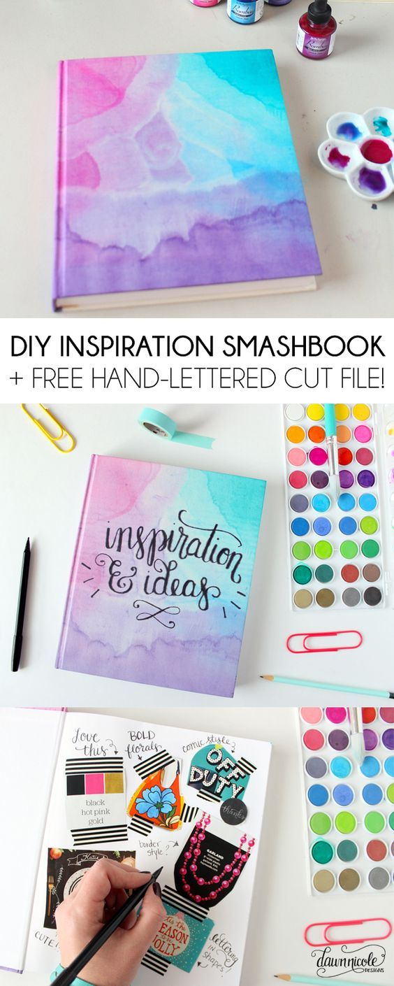 DIY Inspiration Smashbook + Free Silhouette Cut File and PNG. Plus, seven ways I find inspiration! | dawnnicoledesigns.com: