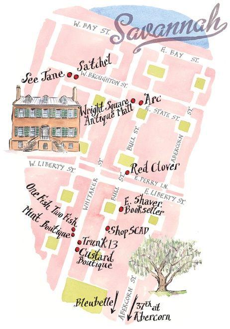 Savannah map, sweet as Savannah