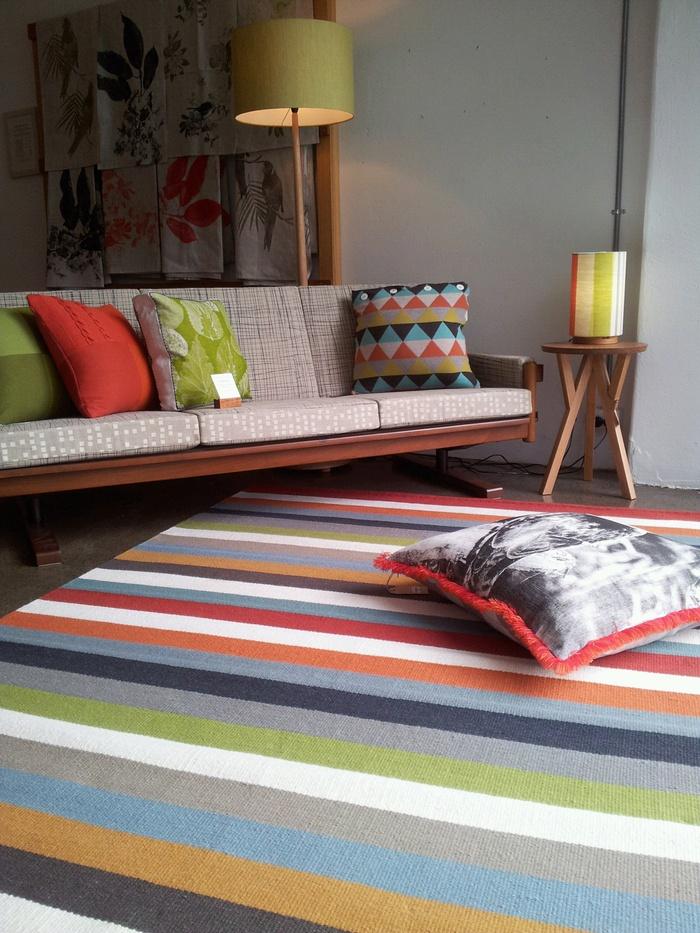 Striped wool rug idea