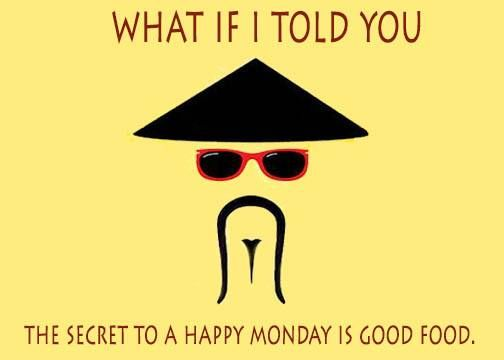 Don't hate them #Mondays anymore because now you know the secret to a #HappyMonday. Simply, Wok it up!