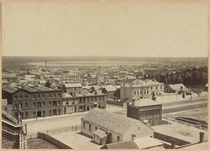 Melbourne , looking towards the lagoon in what is now West Melbourne