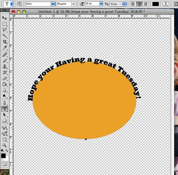 how to move text on a path photoshop