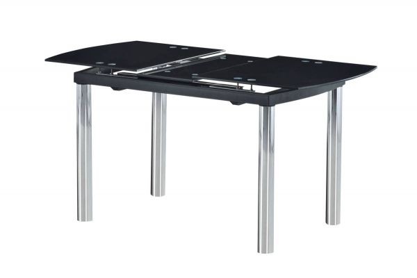 D30 Series Chrome Black Glass Dining Table