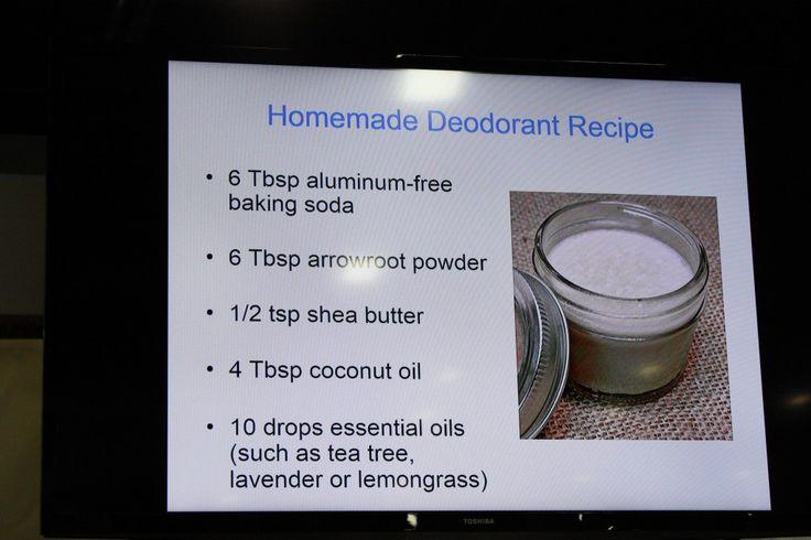 Homemade Deodorant Recipes