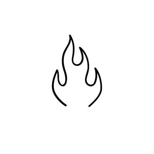 Flegomai von Chrissy DiBiasio ist ein minimalistisches temporäres Tattoo aus der Inkbox, #au