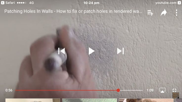 How to patch holes in rendered walls - YouTube