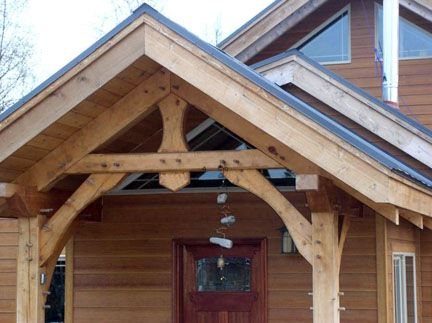 1000 images about cabin entrance ideas on pinterest for Timber frame porch designs