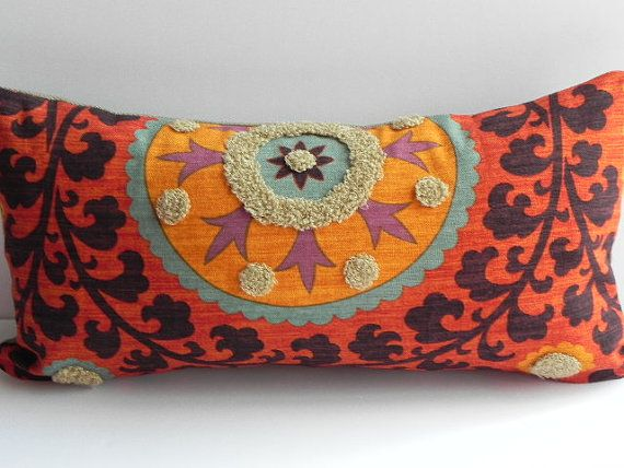 Suzani 3Park 10X20 Tribal Print Pillow Cover Designer Home Decor Fabric-Throw Pillow-Lumbar Pillow-Couch Pillow-Living Room on Etsy, $42.00