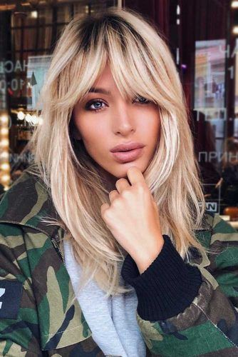 Latest 20 hairstyles with bangs for oblong face shape