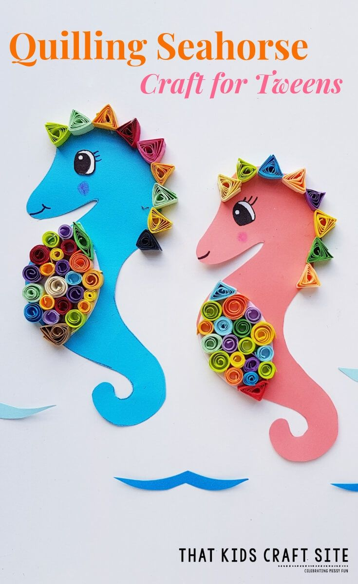 Quilling Seahorse Craft For Kids Top Homeschooling Blogs Crafts