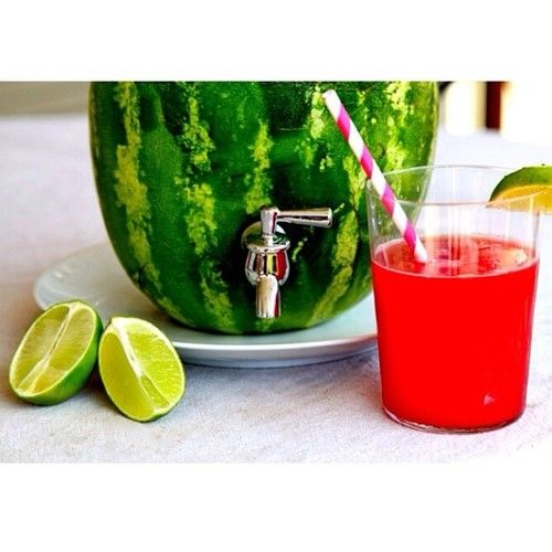 how to make a watermelon drink dispenser