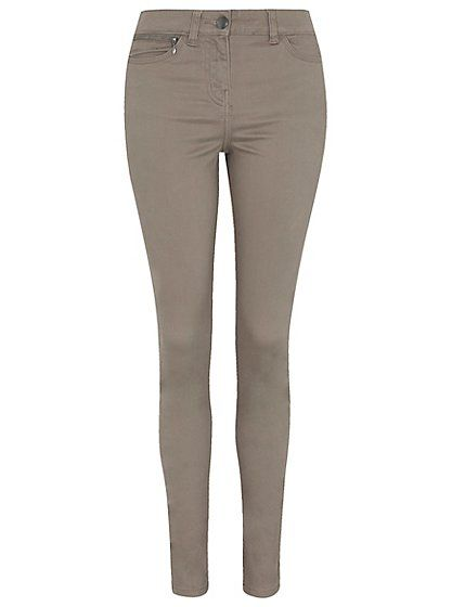 Zip Detail Trousers - Stone, read reviews and buy online at George at ASDA. Shop from our latest range in Women. Impeccably stylish and smart, these stretchy...